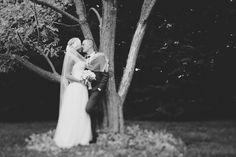 Kat Stanley Photography ::Terrara House :: Black and white :: photography :: Outdoor wedding :: Kiss :: Bride :: Groom :: Wedding Photo :: Veil