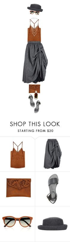 """Suede & Smoke"" by ladomna ❤ liked on Polyvore featuring Ilundi, Charlotte Russe, The Row, Topshop and MANGO"