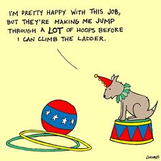 Sometimes you have to jump through a few hoops before you can climb the success ladder. Funny Jobs, That's Hilarious, Love My Job, Love You, Career Help, Job Humor, Self Branding, Career Inspiration, Office Humor