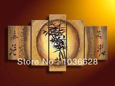 Cheap Pintado a mano arte de la pared de la danza de bambú belleza decoración del hogar paisaje pintura al óleo en la lona 5 unids/set mixorde, Compro Calidad Pintura y Caligrafía directamente de los surtidores de China:                             Nota de pls: es sin marco/sin estirar, sólo la pintura sobre tela, si usted necesita enmarca