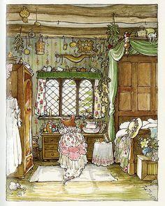 """Illustration from """"Summer Story"""" by Jill Barklem"""