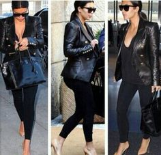 """""""All black everything"""" minus the shoes #TeamNudePumps"""