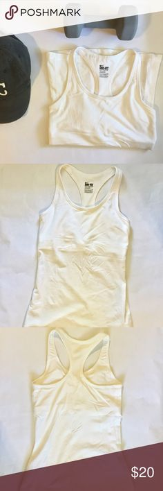 White Sports Top | Nike White sports tank top. More form fitting Nike Tops Tank Tops