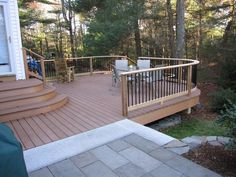 I like the gradual decline and open railing. This is of course ENTIRELY too big for our back yard.