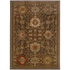 Salerno Coffee (Brown) 9 ft. 10 in. x 12 ft. 10 in. Area Rug