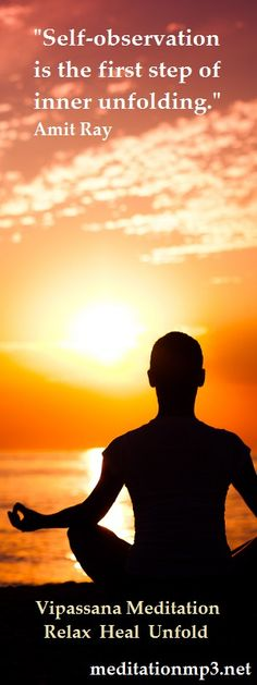 Vipassana Meditation, Relax, Heal, Unfold. Working through this Guided Meditation mp3 takes you into deep relaxation and healing, all of which yields you deeper inner connection and self-observation, enabling you to elevate your life to the heights you dream of. Enjoy. Stephen :)