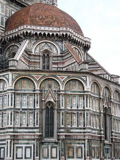 The Cathedral of Florence, Tuscany Region, Italy. The Basilica di Santa Maria del Fiore is the main church of Florence, Italy. Il Duomo di Firenze, as it is ordinarily called, was begun in 1296 in the Gothic style to the design of Arnolfo di Cambio. (V)