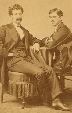 1866 - Clemens and his brother-in-law Charley Langdon.