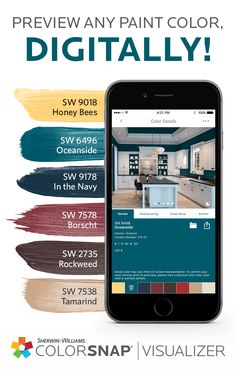 The Colorsnap Paint Color Matching Uses Your Android Or Iphone Smartphone To Match Sherwin Williams Colors Pictures Of Favorite Things