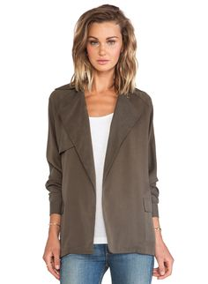 Khaki Long Sleeve Notch Lapel Belt Coat - Sheinside.com