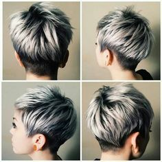 Love the longer pieces with side and nape undercut. Looks classier than other undercuts.