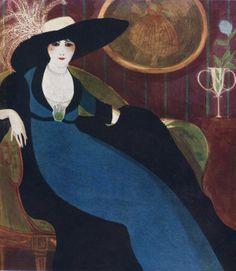 """Paul Iribe - """"chapeau cree par Gabrielle Chanel"""" - used on the cover of the magazine Comoedia illustre on 1st March 1911"""