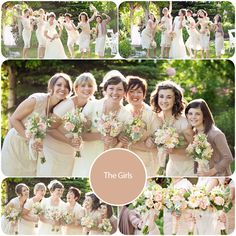 bridesmaids color scheme and lace skirts