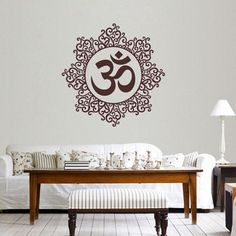 Decal Dzine Designer Om Dark Brown Wall Sticker - Add oodles of style to your home with an exciting range of designer furniture, furnishings, decor items and kitchenware. We promise to deliver best quality products at best prices.