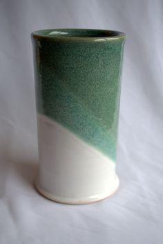 Medium Green & White Porcelain Vase. $25.00, via Etsy.