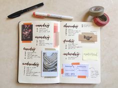 "ashleystudies: "" [april 16, 2016] this is my spread from last week (april 3 to april 9). i ALWAYS!!! forgot to write in the actual dates!!!!!!! and i don't ever realize until after i've already taken..."