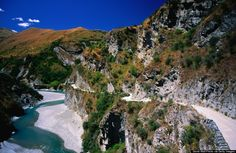 Skippers Canyon Road, ranked as one of most dangerous roads in the World in the New Zealand