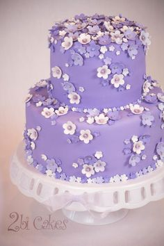 Pretty Posies Birthday Cake - Pretty Posies birthday cake by 2bi Cakes