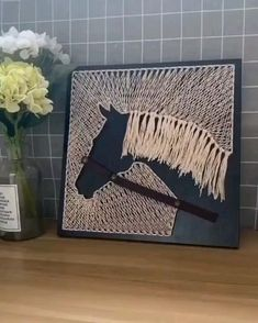 Diy Crafts For Home Decor, Diy Crafts Hacks, Diy Crafts For Gifts, Diy Arts And Crafts, Creative Crafts, String Wall Art, Nail String Art, String Art Tutorials, String Art Patterns