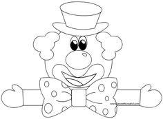 Festone di Carnevale da colorare con tre pagliacci che si tengono per mano. Clown Crafts, Carnival Crafts, Clowns, Photo Clipart, School Decorations, All Kids, How To Make Paper, Craft Activities, Mardi Gras