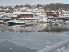 Rockland, Maine in winter