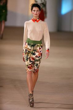 Preen Fall 2012. sheer blouse w/ floral cuff and collar. yup im in love.