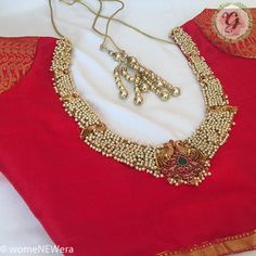 25 Dashing Red Work Blouse designs to try for your wedding - Wedandbeyond Netted Blouse Designs, Wedding Saree Blouse Designs, Fancy Blouse Designs, Blouse Neck Designs, Sari Blouse, Zardosi Work Blouse, Maggam Work Designs, Designer Blouse Patterns, Saree Blouse Patterns