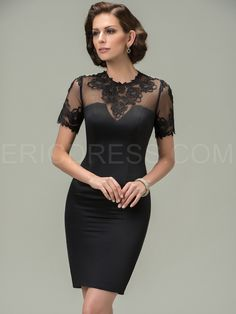 Jewel Appliques Short Sleeves Mother of the Bride Dress Mother of the Bride Dresses 2015- ericdress.com 11292069