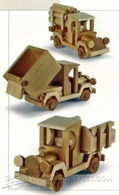 Wooden Truck and Trailer Plan - Children's Wooden Toy Plans and Projects   WoodArchivist.com