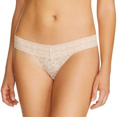 Women's All Over Lace Thong Mochaccino XS