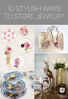These days, bauble storage and display has evolved quite a bit from the traditional lone jewelry box. Whether it's a brass figurine or an upcycled wooden frame, our favorite bloggers are getting extra crafty with jewelry styling.