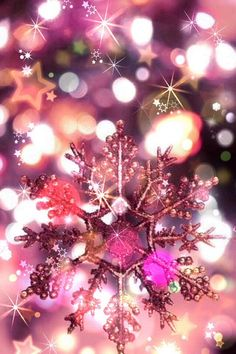 Shimmering snowflake cute beautiful lights pink winter shimmer snowflake snowflakes