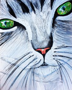 İllustration,  sketch, drawing, draw, watercolour, acrilic, art, cat