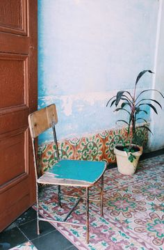 Cement tiles from Trinidad, Cuba