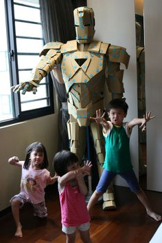 Makedo Iron Man from Taiwan. Click the pic to see how it was constructed!