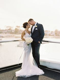 Photography: Mariel Hannah - www.marielhannahphoto.com   Read More on SMP: http://www.stylemepretty.com/california-weddings/2015/07/20/elegant-newport-yacht-wedding-on-the-water/