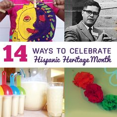 14 Ways to Celebrate Hispanic Heritage Month includes some educational activities but also some fun activities that are more experiential learning for the culture. Hispanic History Month, Hispanic Culture, Hispanic Heritage Month, Spanish Activities, Holiday Activities, Classroom Activities, Class Activities, Educational Activities, Family Activities