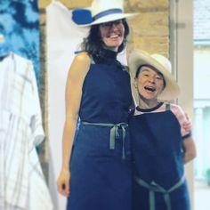 Rosa and Sarah -  worked so hard yesterday @bamfordjournal artisan print workshop for @daylesfordfarm summer festival yesterday. Thanks for all the creativity talent and laughs. @rosamandenguyen @portableprintstudio