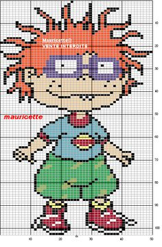 Chuckie Rugrats perler bead pattern by Mauricette