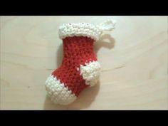 Πλεκτή μίνι χριστουγεννιάτικη κάλτσα