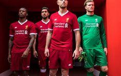 Liverpool FC 125th Anniversary 2017 18 New Balance Home Kit a2bb14932