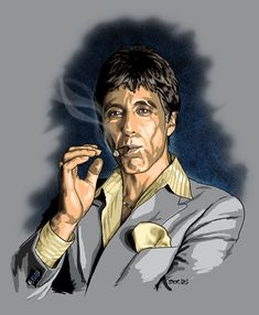 Scarface (1983) Cuban refugee Tony Montana, who becomes a drug kingpin in 1980s Miami makes the fatal mistake of getting high on his own cocaine supply. Description from pinterest.com. I searched for this on bing.com/images