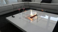Table cheminée bio ethanol automatique avec télécommande. http://www.a-fireplace.com/fr/cheminee-ethanol/ AFIRE