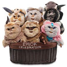 Ewok Celebration Limited Edition Plush Set - Star Wars - Small - 9''