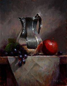 Mother s Favorite Pitcher by Kathy Tate Oil 14 x 11 Still Life Painting, Art Oil, Art Painting, Art Painting Oil, Still Life Photography, Still Life, Still Life Art, Still Life Photos, Still Life Drawing
