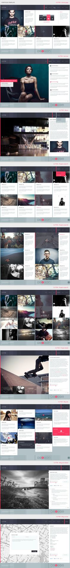 CUTTER - Fullwidth Portfolio  via @Behance   http://www.behance.net/gallery/CUTTER-Fullwidth-Portfolio-Template/9173563?utm_source=Triggermail_medium=email_campaign=Net%20Project%20Published | #webdesign #it #web #design #layout #userinterface #website #webdesign < repinned by www.BlickeDeeler.de | Take a look at www.WebsiteDesign-Hamburg.de
