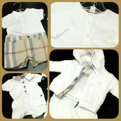 Classic Burberry for infant boys from their layette collection☆