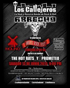 """Cresta Metálica Producciones » Los Callejeros se estarán presentando en el """"BIRRAS ROCK FEST"""""""