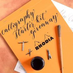 TPK Instagram Weekend Giveaway  This giveaway is for a complete beginner's calligraphy starter kit; the winner will receive: 1 large Rhodia pad 1 small bottle of sumi ink 1 straight pen 1 TPK printable worksheet (your choice) 2 Brause EF66 nibs 2 Brause Rose nibs and 2 Nikko G nibs! To enter to win comment on this photo with an answer to the following question: What artistic or creative goal do you hope to accomplish this year?  The giveaway will end Monday January 4th at 10:30 AM MST and a…