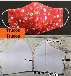 Small Sewing Projects, Sewing Projects For Beginners, Sewing Hacks, Sewing Tutorials, Sewing Crafts, Easy Face Masks, Face Masks For Kids, Diy Face Mask, Techniques Couture